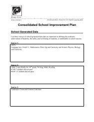 Consolidated School Improvement Plan - Park City High School ...