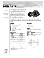 DALSA 1M30 - Image Labs International