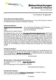 Nr. 28 / Woche 31 / 02. August 2013 - Gemeinde Villnachern