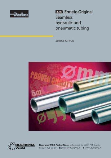 Brochure Ermeto naadloos getrokken buis - Duursma W&O