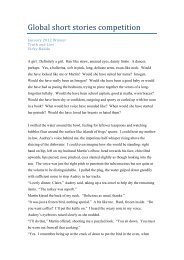 january winning stories 2012 - Global Short Story Competition