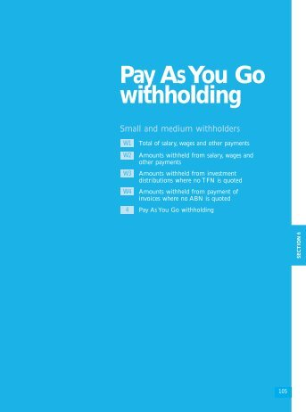 Pay As You Go withholding