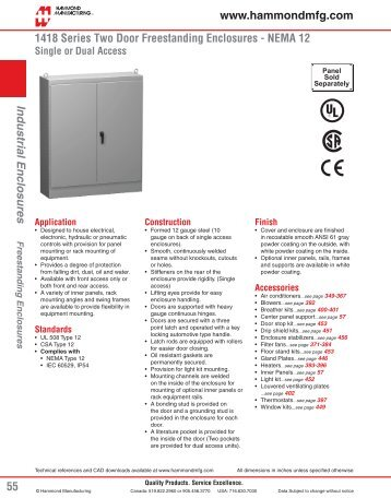 Hammond 1418 Series Freestanding Two Door ... - Solutions Direct