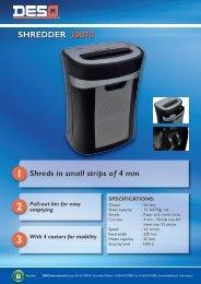 SHREDDER 20070 1 Shreds in small strips of 4 mm - DESQ ...