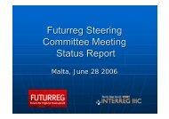 Futurreg Steering Committee Meeting Status Report - Urenio