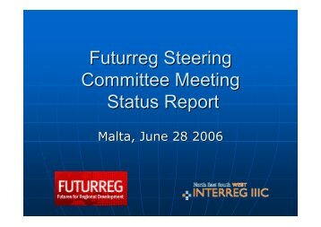 Futurreg Steering Committee Meeting Status Report - Urenio