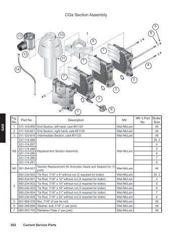Boiler Parts: Weil Mclain Boiler Parts List