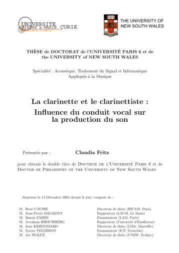 thèse - Lutheries Acoustique Musique