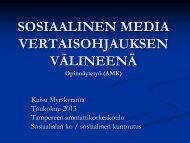 Sosiaalinen media vertaisohjauksen välineenä - Varustamo ...