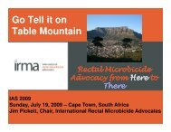 Go tell it on Table Mountain - rectal microbicide advocacy ... - IRMA