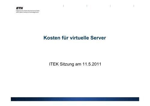 Kosten für virtuelle Server - ITEK