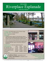 Riverplace Esplanade - Commercial Realty Advisors