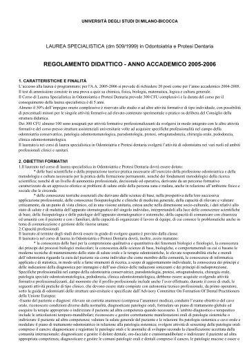 a.a. 2005/2006 - Medicina e Chirurgia - Università degli Studi di ...