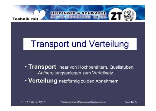 Transport Verteilung - Wasserland Steiermark