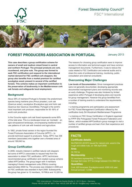 Forest Stewardship Council® FSC® International FOREST ...