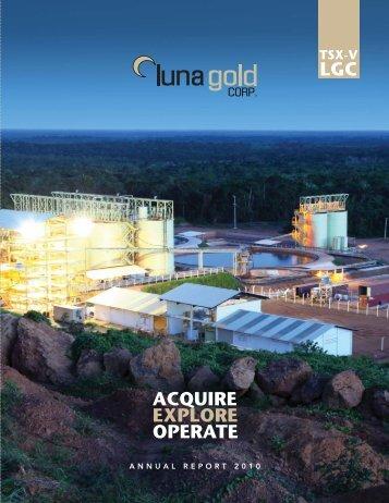 2010 Annual Report (English) - Luna Gold