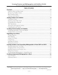 Creating Citations and Bibliographies with EndNote X4 (14)