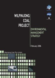 Wilpinjong Coal Project Environmental ... - Peabody Energy