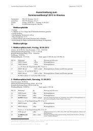 Ausschreibung zum Sommerwettkampf 2013 in Ilmenau - LTVT