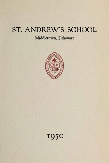 ST. ANDREW,S SCHOOL - Saint Andrew's School Archive