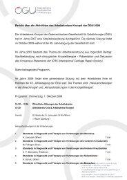 Arbeitsbericht 2009 - Österreichische Gesellschaft für Unfallchirurgie