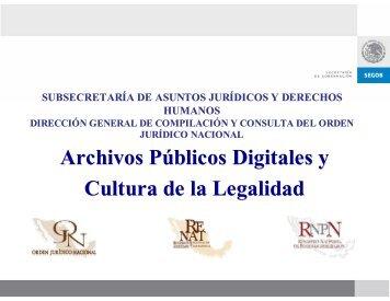 Fomento de la cultura de la legalidad y compilación jurídica