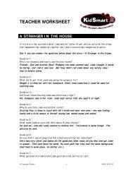 Teacher's sheet - Kidsmart