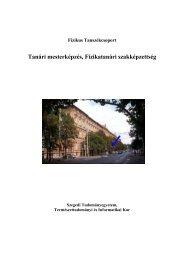 PDF szórólap - Fizikus Tanszékcsoport - Szegedi Tudományegyetem