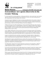 Extraordinary new species discoveries in the Greater Mekong (PDF)