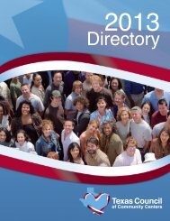 Directory - Texas Council of Community Centers