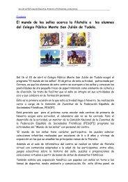 El mundo de los sellos acerca la filatelia a los alumnos del ... - Navarra