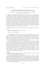 ADAPTIVE SMOOTHED AGGREGATION (αSA) 1. Introduction. Over ...