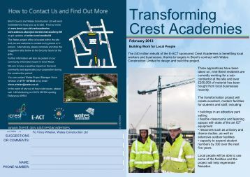 Download our Crest Academy newsletter for February 2013 ... - Wates