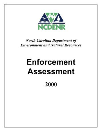 Enforcement Assessment - NC Dept. of Environment and Natural ...