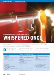 WHISPERED ONCE - Linux Magazine