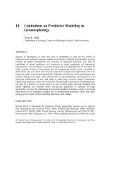 Chapter 14 - Limitations on Predictive Modeling in Geomorphology ...