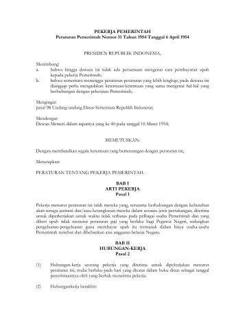 Peraturan pemerintah no 1 tahun 2012 ortax
