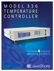 model 336 temperature controller - Lake Shore Cryotronics, Inc.