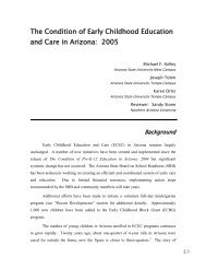 The Condition of Early Childhood Education and Care in Arizona ...