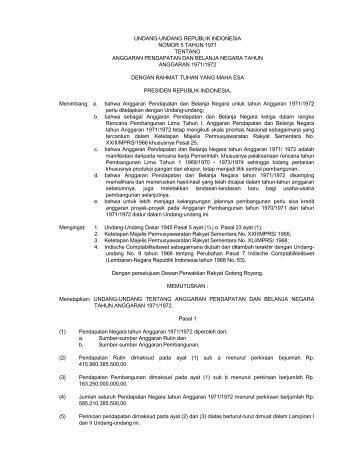 undang-undang republik indonesia nomor 5 tahun 1971 tentang ...