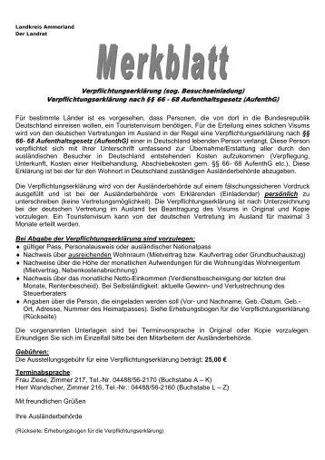 Merkblatt zu Verpflichtungserklaerungen - KDO-KIM