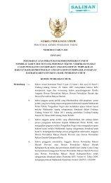 PERATURAN KOMISI PEMILIHAN UMUM NOMOR 03 TAHUN 2011 ...