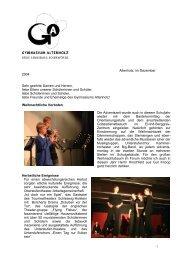 Rundbrief Dezember 2004 - Gymnasium Altenholz