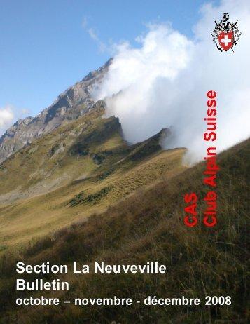 Octobre - décembre 2008 - CAS La Neuveville