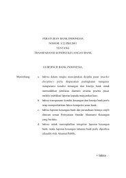 Transparansi Kondisi Keuangan Bank