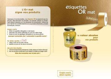 L'Or mat signe vos produits - Impressions Services