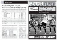 Team Aargau U-21 FC Kosova Zürich MATCHFLYER - FC Aarau