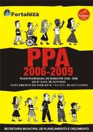 PPA 2006 - 2009 - Prefeitura Municipal de Fortaleza - ce