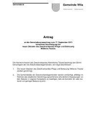 Antrag an Gemeindeversammlung - Gemeinde Wila