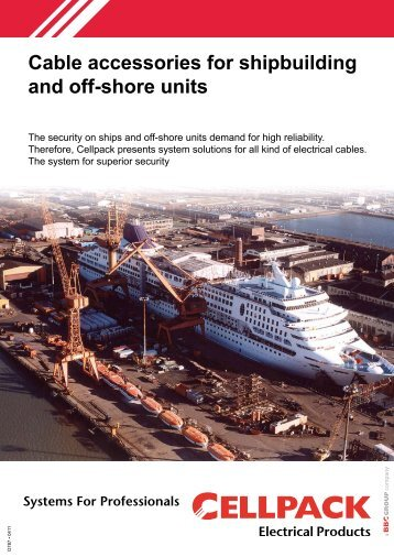Productcatalogue Shipbuilding - Cellpack Electrical Products